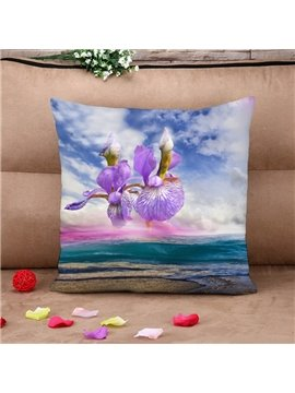 Violet over The Air Dreamlike Cotton Throw Pillow Case