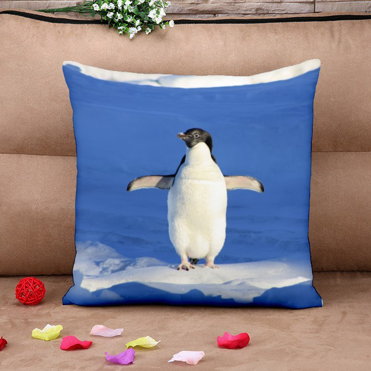 Volant Penguin in Snowfield Cotton Throw Pillow Case