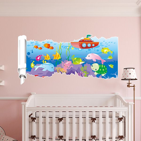 New Arrival Fish 3D Wall Sticker for Room Decoration