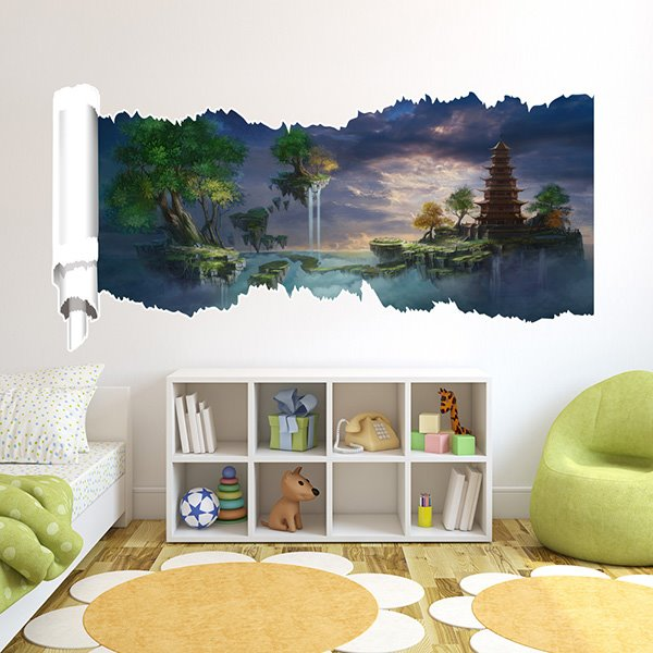 New Arrival Creative Dreamlike Scenery 3D Wall Stickers