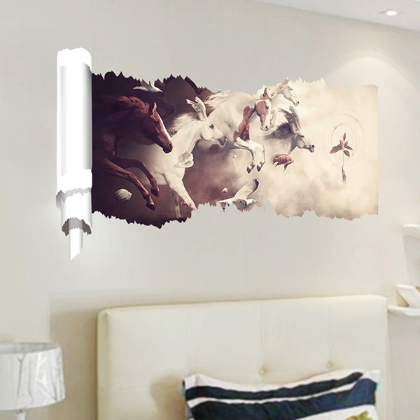 New Arrival Running Horse 3D Wall Stickers