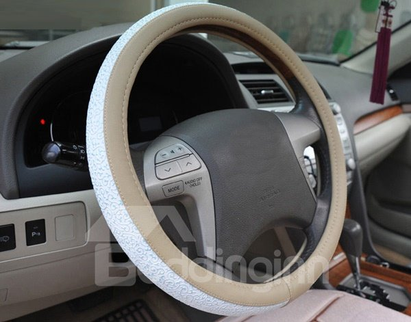 Beautiful Pattern And Veins On The Steering Wheel Covers