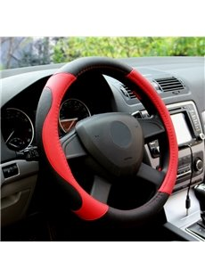 Black And Red Color Classic Match Steering Wheel Covers