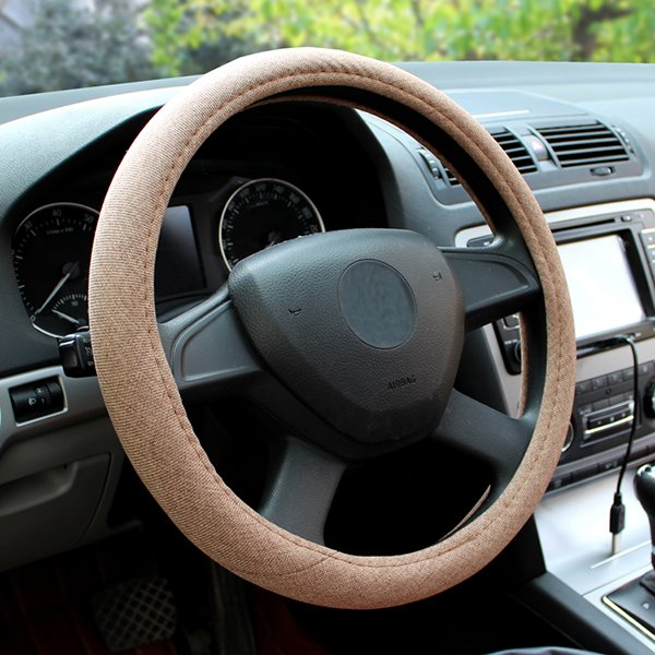 Luxurious Pure Color Delightful Steering Wheel Covers