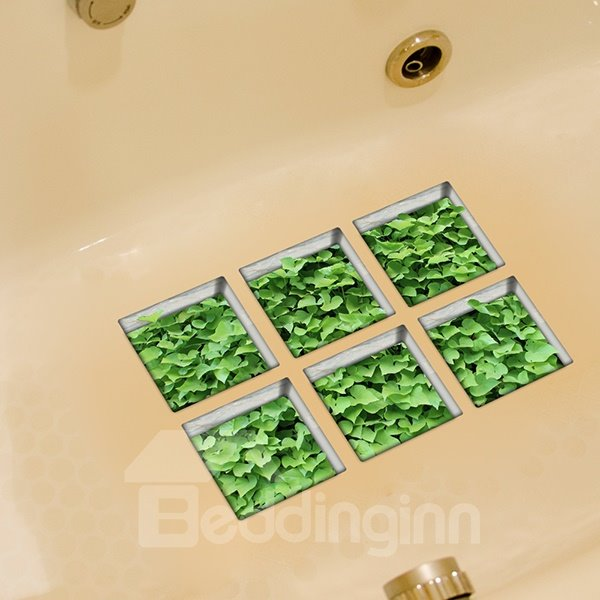 New Arrival Grass Pattern 3D Bathtub Stickers For Bathroom Decoration