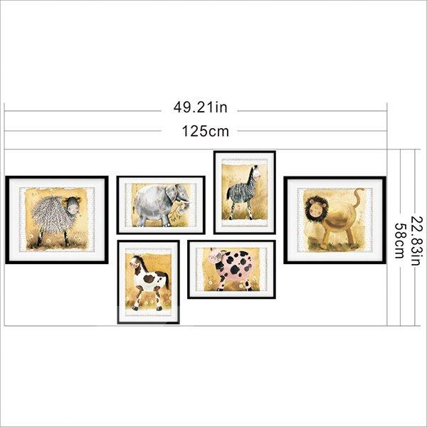 Cute Animal Pattern 3D Wall Art Prints For Bathroom Decoration