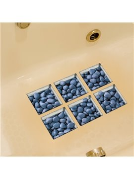 New Arrival Simple Blue Stone 3D Bathtub Stickers