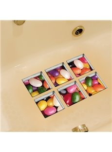 New Arrival Oval Stone Pattern 3D Bathtub Stickers