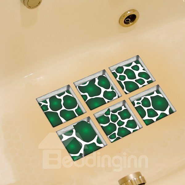 New Arrival Green Slice 3D Bathtub Stickers
