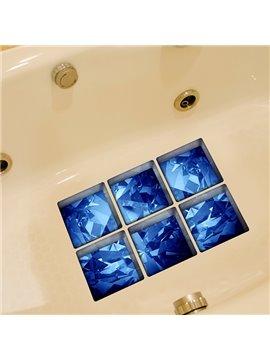 Amazing Blue Krystal Pattern 3D Bathtub Stickers