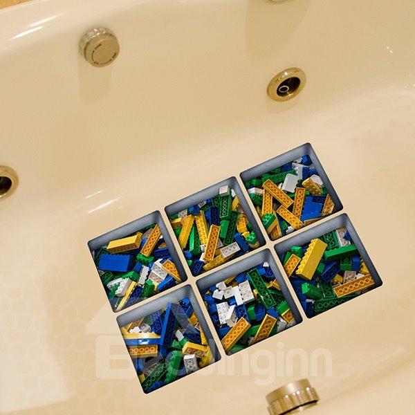 New Arrival Toy Pattern 3D Bathtub Stickers