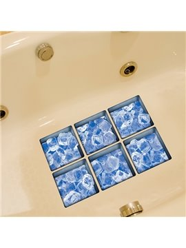 New Arrival Ice Cake Pattern 3D Bathtub Stickers