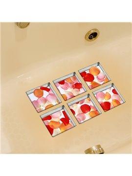 New Arrival Beautiful Flower Petal 3D Bathtub Stickers