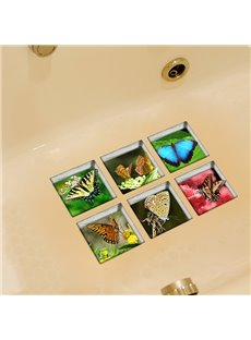 Hot Sale Beautiful Butterfly 3D Bathtub Stickers