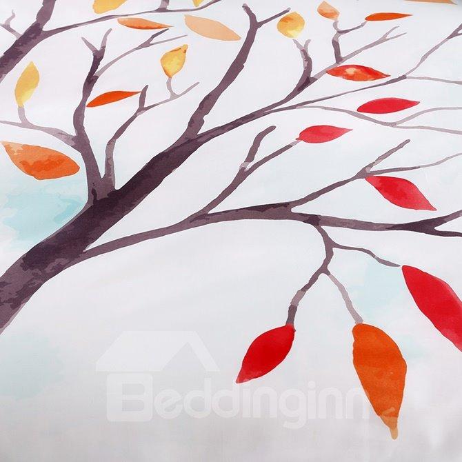 Special Design Beautiful Cartoon Tree Cotton 4-Piece Duvet Cover Sets