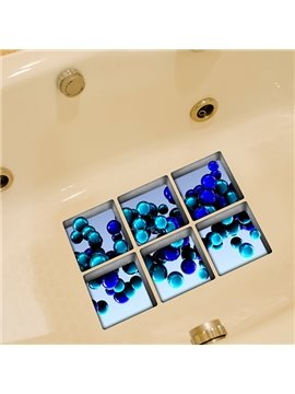 Hot Sale Beautiful Blue Ball 3D Bathtub Stickers