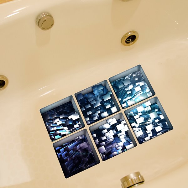 Creative Diamonds Pattern 3D Bathtub Stickers
