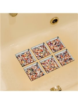 Hot Sale Colorful Stone Pattern Bathtub 3D stickers