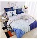 Concise Style Soft Stripe Print 4-Piece Duvet Cover Sets