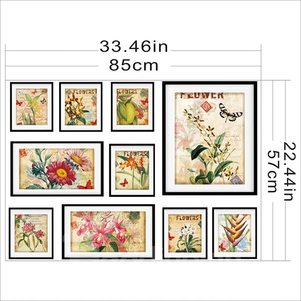 New Arrival Countryside Style Colorful Flower Pattern Wall Art Prints