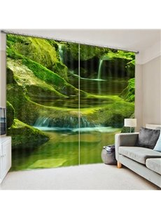 Beautiful Mountain Spring Print 3D Blackout Curtain