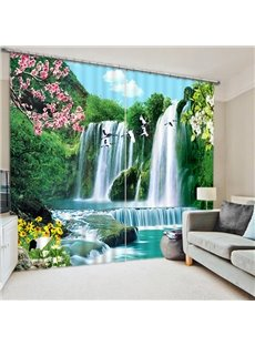 The Wonderful Waterfall Nature Printing Home Decor 3D Curtain