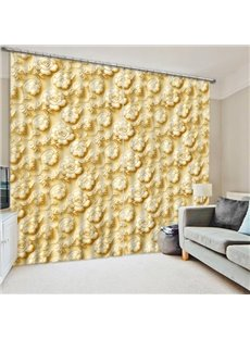 Chic Flowers Embosser Print 3D Blackout Curtain