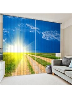 The Sun Rising from the Field Print 3D Blackout Curtain
