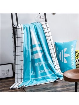 High Class Unique Design Blue Cotton Summer Quilts