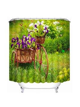 Vivid Bake full of Purple Flowers Print 3D Shower Curtain
