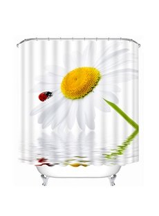 A Lovely White Daisy Print 3D Shower Curtain