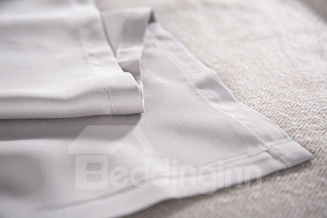 Dreamy Plum Blossom Print Blue 4-Piece Tencel Duvet Cover Sets