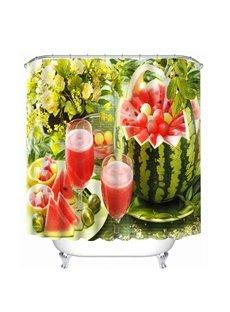 Delicious Watermelon Juice Print 4D Bathroom Shower Curtain