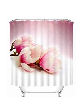 Gorgeous Light Pink Tulips Print 3D Bathroom Shower Curtain