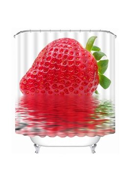 Delicious Fresh Strawberry Print 3D Bathroom Shower Curtain