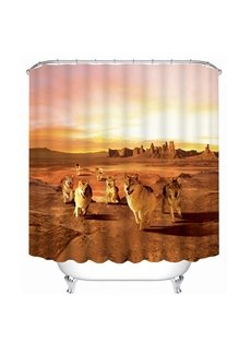 The Wolf in the Desert Print 3D Bathroom Shower Curtain