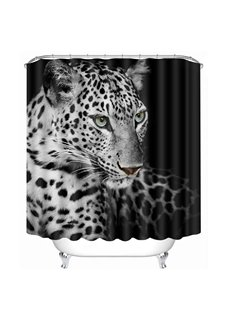 A Black and White Spots Cheetahs Print 3D Bathroom Shower Curtain