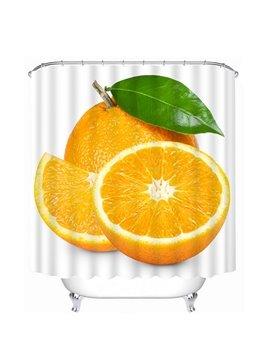 Delicious Fresh Orange Print 3D Bathroom Shower Curtain