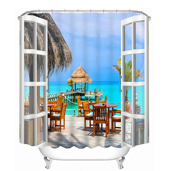 Beautiful Sea Print 3D Bathroom Shower Curtain