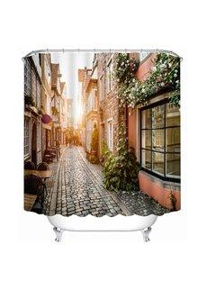 Vintage Street Dawn Sunshine Print 3D Bathroom Shower Curtain