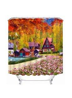 Wonderful Fall Scenery Print 3D Bathroom Shower Curtain