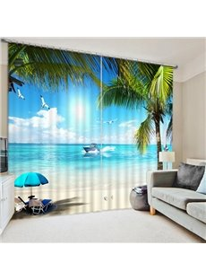 Surfing in the Beach Print 3D Blackout Curtain