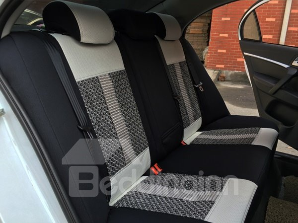 Popular Sport Style Ice Silk And Leatherette Material Custom-Fit Five Car Seat Cover