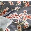 Romantic Plum Blossom Design 4-Piece Cotton Duvet Cover Sets
