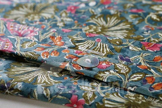 Super Cozy Flower Pattern Cotton 4-Piece Duvet Cover Sets