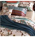 Concise Style Stripe 4-Piece Active Print Cotton Bedding Sets