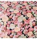 Luxurious Flowers Print 4-Piece 100% Cotton Duvet Cover Sets