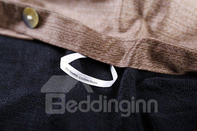 Fancy Gradient Effect Brown 4-Piece Cotton Duvet Cover Sets