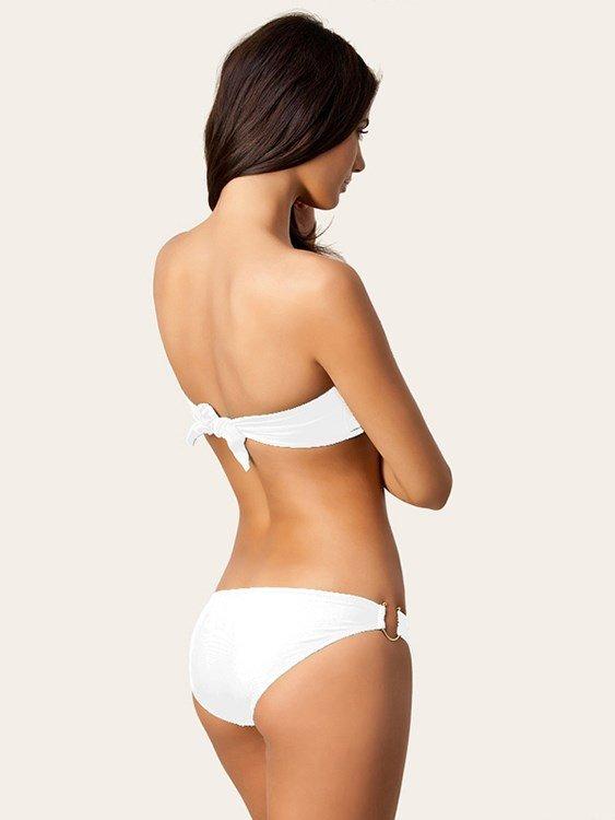 Boob Tube Top Simple Style Two-piece Bikini