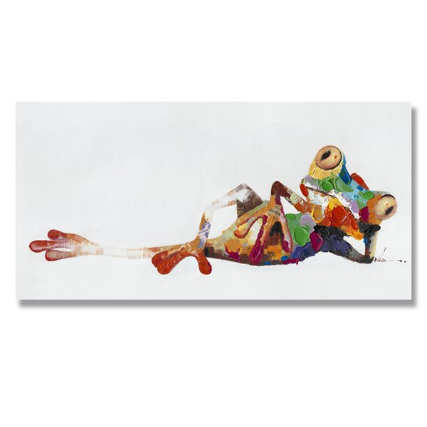 Oil Painting Modern Abstract Frog Hand Painted Canvas